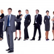 Royalty-Free Stock Photo: Business team and their leader