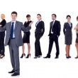 Business team and their leader - Stock Photo