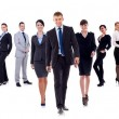 Business leaders walking - Stock Photo
