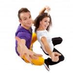 Couple of dancer — Stock Photo