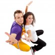 Dancers couple posing for the camera — Stock Photo