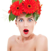 Surprised beautiful woman — Stock Photo