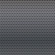 A metal background with holes. - Stockvectorbeeld