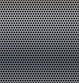 A metal background with holes. — Vector de stock