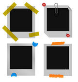 A set of polaroid or instant picture frames. — Stock Vector