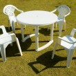 Four plastic chairs — Stock Photo #5452714