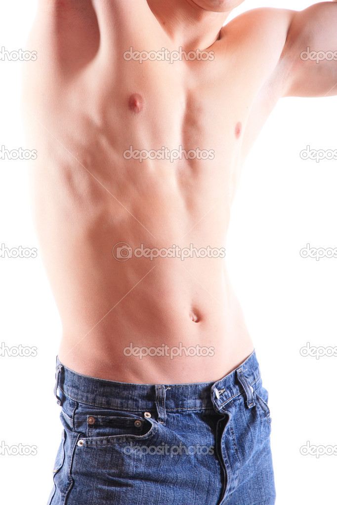 Sexy muscular man isolated on white — Stock Photo #5529088
