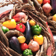 A basket of vegetables - Stock Photo