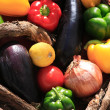 A basket of vegetables - Foto Stock