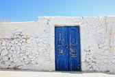 圣托里尼岛上的老门 — 图库照片
