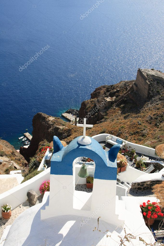 Church in Oia - Santorini island Greece — Stock Photo #5780410