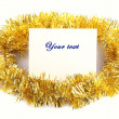 Royalty-Free Stock Photo: Christmas decoration  message sheet