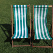 Deckchairs — Foto de Stock