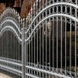 Iron fence - Stock Photo