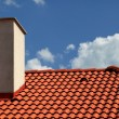 Stock Photo: Roof and chimney