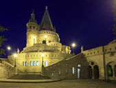Fishermans bastion in Budapest, Hungary at night — Stock Photo