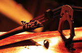 Detail of a classical cello — Stock Photo
