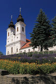 Tihany abbey church in Hungary — Stock Photo