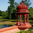Hindu achitecture, red sanctuary outdoor — Stock Photo #6420751