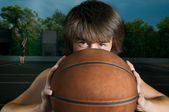 Streetball player — Stock Photo
