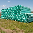 Stock Photo: Pile of sewer piping