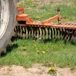 Stock Photo: Old farm tractor plow