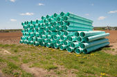 Pile of sewer piping — Stock Photo