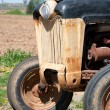 Front of an old farm tractor — Stock Photo