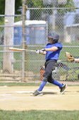 Little league baseball slagman — Stockfoto