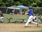 Giocatore di baseball little league — Foto Stock