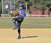 Little league baseball pitcher — Stock Photo