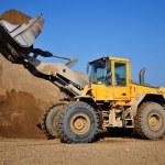 Yellow Excavator at Construction Site — Stock Photo #6476914