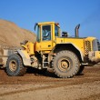 Yellow Excavator at Construction Site — Stock Photo #6476930