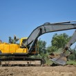 Yellow Excavator at Construction Site — Stock Photo #6476990