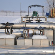 Refinery in winter scenery — Stock Photo