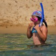 Snorkeling girl — Stock Photo