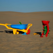 Children's beach toys - buckets — Stok fotoğraf