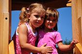 Two beautiful girls posing — Stock Photo