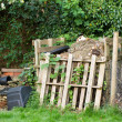 Garden Compost Heap - Stock Photo