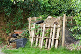 Garden Compost Heap — Stock Photo