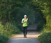 Older woman on training run — Stock Photo
