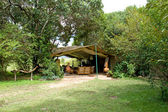 Masai mara camp lounge — Stockfoto