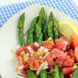 Asparagus with Tomato Vinaigrette — Stock Photo