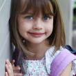 Child with Book Bag — Stockfoto