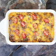 Hash Brown Strata or Breakfast Casserole — Stock Photo