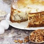 南部核桃芝士蛋糕 — 图库照片
