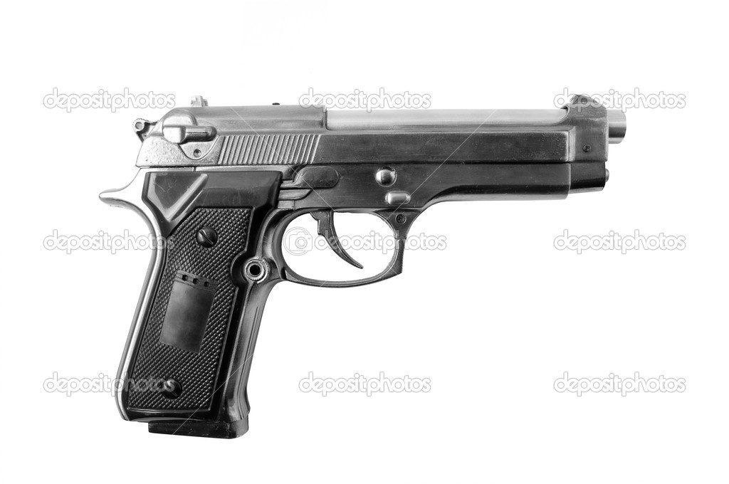 gun white background - photo #24