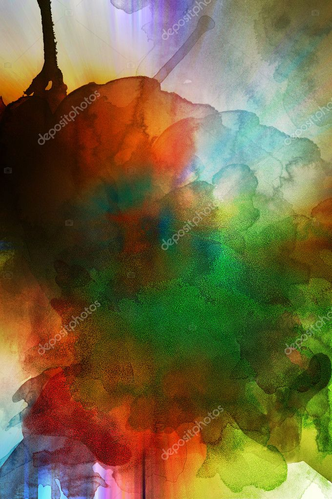 Abstract grunge background representing colors and smoke — Foto Stock #6116494