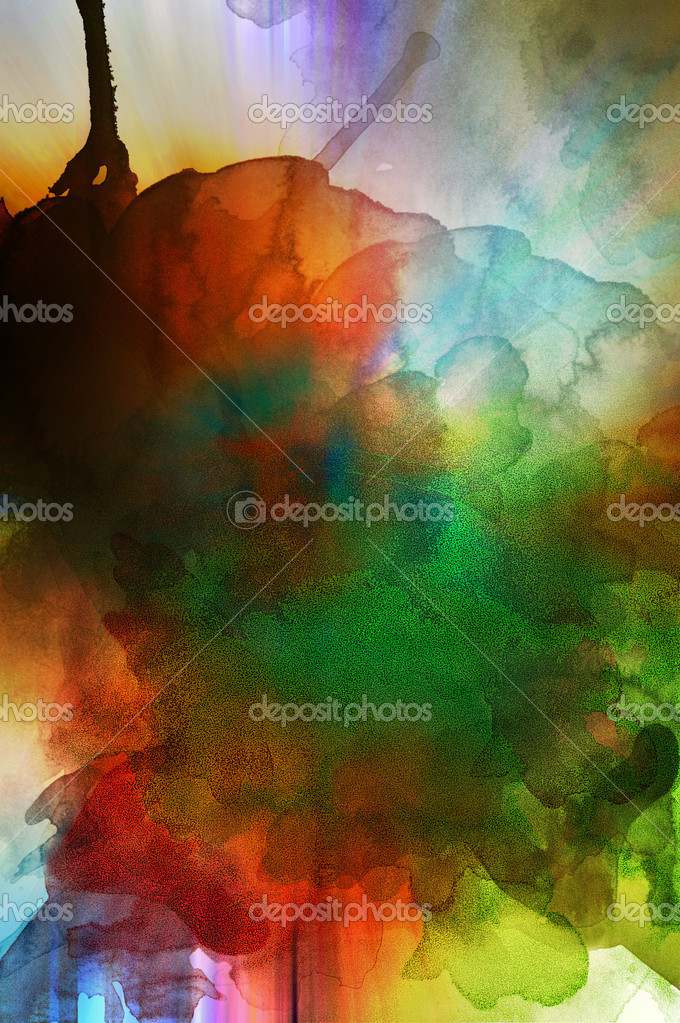 Abstract grunge background representing colors and smoke — Zdjęcie stockowe #6116494