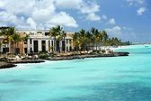 Luxury hotel complex and coastline on Cap Cana seaside — Stock Photo